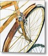 Rusty Beach Bike Metal Print by Norma Gafford