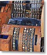 Rusty Cash Register Metal Print