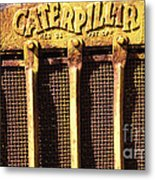 Rusty Caterpillar Metal Print