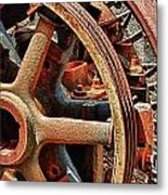 Rusty Flywheel  Metal Print