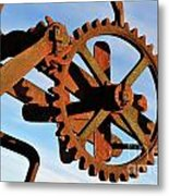 Rusty Gears Mechanism Metal Print
