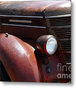 Rusty Old 1935 International Truck . 7d15499 Metal Print by Wingsdomain Art and Photography
