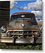 Rusty Old Cadillac Metal Print