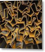 Rusty Fenceposts Metal Print