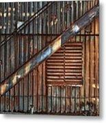 Rusty Stairway Metal Print by Brenda Bryant