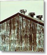 Rusty Tin Factory Building Metal Print