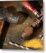 Rusty Tools Metal Print