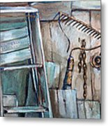 Rusty Tools Metal Print by Jean Groberg