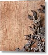 Rusty Tools Metal Print