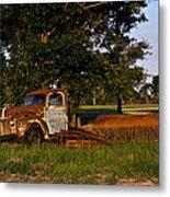 Rusty Truck And Tank Metal Print by Douglas Barnett
