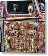 Rusty Truck Door Metal Print