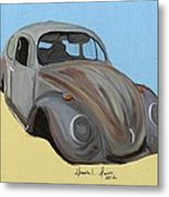 Rusty V.w. Bug Metal Print