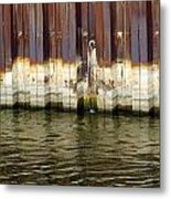 Rusty Wall By The River Metal Print