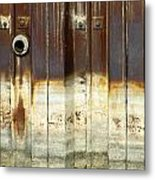 Rusty Wall In The City Metal Print