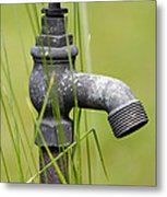 Rusty Water Supply Point Metal Print