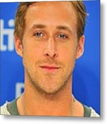 Ryan Gosling At The Press Conference Metal Print by Everett