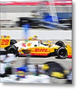 Ryan Hunter-reay Exiting Pit  Road Metal Print