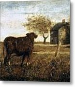 Ryder: The Pasture, C1875 Metal Print