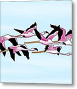 Sa Genti Arrubia  Flamingos Metal Print