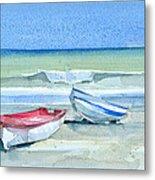 Sabinillas Fishing Boats Metal Print by Stephanie Aarons