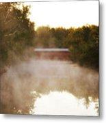 Sachs Covered Bridge In The Mist Metal Print