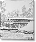Saco River Bridge Metal Print