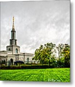 Sacramento Temple Landscape Metal Print