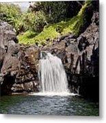 Sacred Pool Waterfall Metal Print