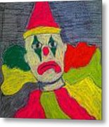 Sad Clown Metal Print by Robyn Louisell