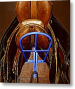 Saddles Metal Print