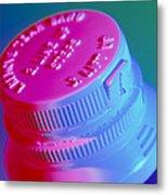 Safety Cap On A Medicine Bottle Metal Print by Steve Horrell