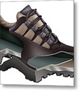 Safety Shoe, Artwork Metal Print
