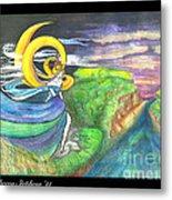 Sage Moon Metal Print by Rebecca Stephens