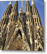 Sagrada Familia Barcelona Spain Metal Print by Matthias Hauser