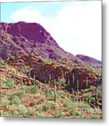 Saguara National Forest In Arizona Metal Print
