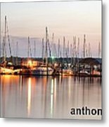 Sail Boat On The River Metal Print
