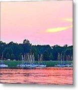 Sail Boats Pretty In Pink  Metal Print