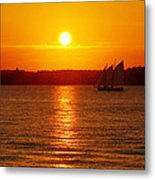 Sail Off Into The Sunset Metal Print by Andrew Pacheco