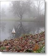Sail To The Land Of Mist IIi Metal Print