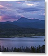 Sailboat On Lake Dillon Below A Clearing Storm, Colorado, Usa, August 2010 Metal Print by Timothy Faust