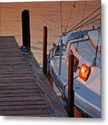 Sailboat Sunrise Metal Print by Steven Ainsworth