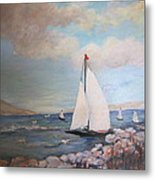 Sailboating In The Carribean Metal Print