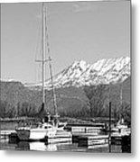 Sailboats At Utah Lake State Park Metal Print by Tracie Kaska