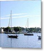 Sailboats In Bay Metal Print