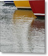 Sailboats In Primary Colors Metal Print by Julie Bostian