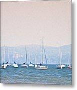 Sailboats On The Hudson - Nyack New York Metal Print
