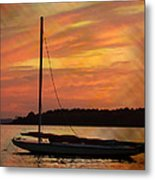 Sailin' On Dewey Metal Print