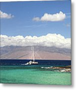 Sailing And Diving Maui Metal Print