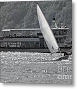 Sailing Boat And Passenger Boat Metal Print