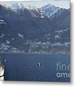 Sailing Boat On A Lake Metal Print